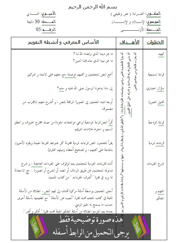جذاذات القراءة للجديد في اللغة العربية – الرابع ابتدائي