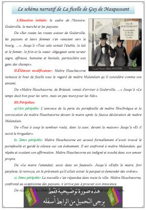 درس Le schéma narratif de La ficelle - اللغة الفرنسية - جذع مشترك