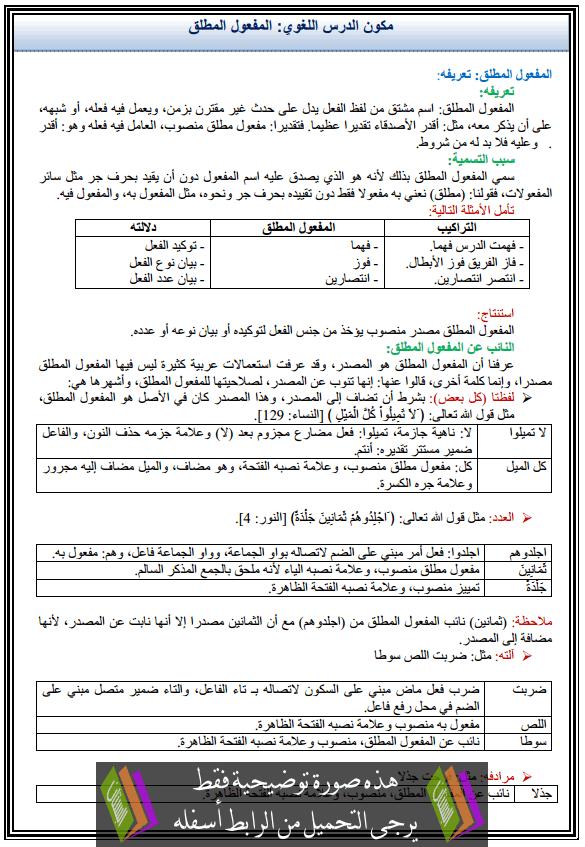 كتاب اللغة العربية اول ثانوي المستوى الثاني