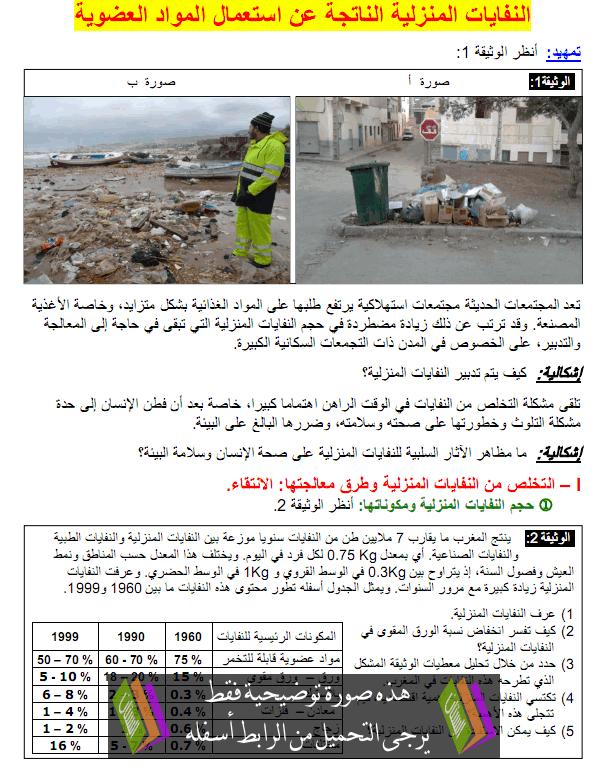 درس النفايات المنزلية الناتجة عن استعمال المواد العضوية - علوم الحياة والأرض - الثانية باكالوريا علوم فيزيائية