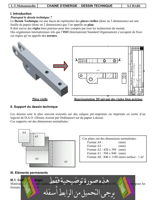 درس Représentation graphique du réel الثانية باكالوريا علوم رياضية (ب) (علوم المهندس)