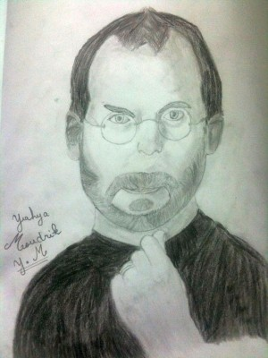 ستيف جوبز - رسم التلميذ يحيى مدرك – إعدادية الجولان بالرباط